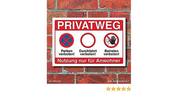 Schild Privatgrundstück Betreten verboten Durchfahrt Parken verboten Alu-Verbund