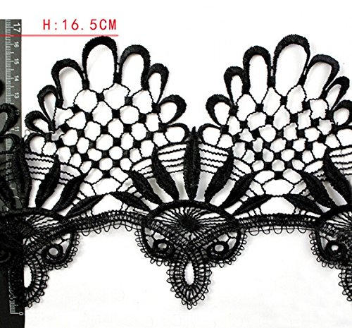 chengyida-wide-trim-2-1-2-inch-width-flower-and-leaf-venise-lace-trim-5-yards46-metters-black