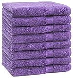 Betz 8-TLG. Handtuch-Set Premium 100% Baumwolle 8 Handtücher Größe 50x100 cm Farbe lila