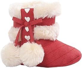 Clode® Kleinkind Baby Mädchen Warm Halten Niedlich Bogen Schneestiefel Weiche Sohlen Krippe Schuhe Stiefel Winterstiefel