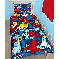 Nouveau style de merveilles réversible Spiderman Housse de couette Parure de lit pour enfant, les enfants garçons et filles, nous savons combien une bonne nuit de sommeil est important pour un enfant et qui leur chambre est le seul endroit qu'ils peu...