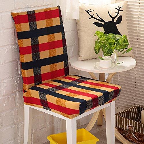 CLG-FLY Spandex sedia cuscini di copertura semplice set pezzo sedia cuscino pad set sedia sedia (2 Pezzi Ottomana)