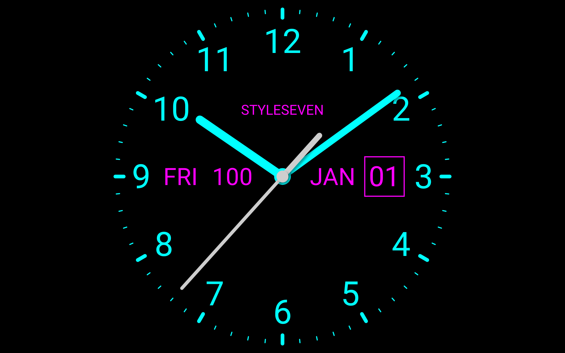 Analog Clock Live Wallpaper-7 : Amazon ...