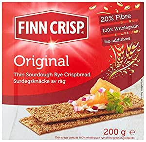 Finn Crisp Harvest Slims Rye 200 g (Pack of 9)