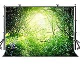 LYLYCTY 7 x 5 ft Tropical Jungle fondo esmeralda tropical selva naturaleza fotografía fondo y estudio fotografía fondo Props LYGY007