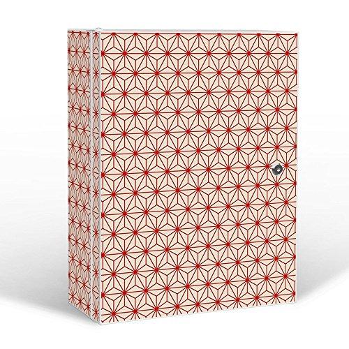#banjado – abschliessbarer Medikamentenschrank 35x46x15cm mit Motiv Sterne Muster#