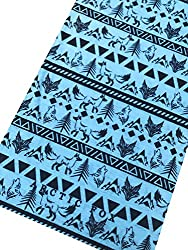 Blue Aztec Multifunctional Seamless Bandana Scarf By Arctic Fox Apparel: Unisex Neck Warmer, Ski Face Mask For Outdoor Activities – Versatile Snood, Headband For Snowboarding, Hiking, Camping, Running from Arctic Fox