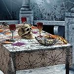 Karneval-Klamotten Tischdeko Party Set Halloween Spinnennetz 2 Teile : Tischdecke, Korb