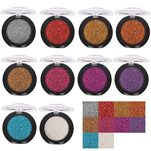 Eyeshadow Palette Glitter,MNRIUOC Beaute Fards à Paupières Brillant Et Glow Hautement Pigmentée Imperméable 20 Fard Diamant Maquillage Perle MéTallique