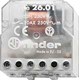 Finder 260182300000- Telerruptor/interruptor unipolar encastrable 1 NA - CA (50Hz) - 230 V, Transparente,