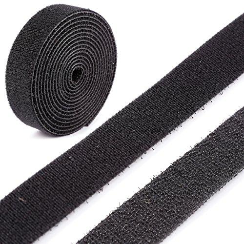 stick-on Velcro ® marque hook /& loop tape 1m x 20mm noir