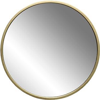 wandspiegel modern vintage spiegel rund mit holzrahmen gold braxton k che. Black Bedroom Furniture Sets. Home Design Ideas