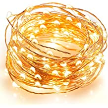 Kohree 12M 120 LEDs Guinarldas de Luz Blanca Cálida Funciona a Pilas Decoración de Navida Y Fiestas