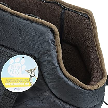 Me and My Pets Black Quilted Carrier 4