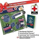 Geschenk-Set: Die Liga-Apotheke für RB Leipzig-Fans | 3X süße Schmerzmittel für Rasen Ballsport Leipzig Fans Fanartikel der Liga, Besser ALS Trikot, Home Away, Fan-Schal & Kennzeichenhalt