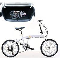20 Zoll 7-Gang Klapprad Tragbares Fahrrad mit Doppel-V-Bremsen für Camping & Reisen