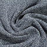 Stoff Polyester Single Jersey marine weiß angeraut Alpenfleece weich