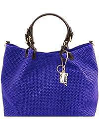 Tuscany Leather TL KeyLuck - Sac shopping TL SMART en cuir imprimé tressé - Grand modèle Sacs à bandoulière en cuir