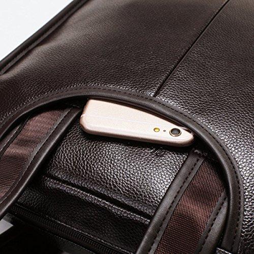 Mann-Schulter-Handtaschen-Geschäfts-Aktenkoffer-vertikale Abschnitt-Kurier-Beutel-beiläufiges Gezeiten-Paket Black