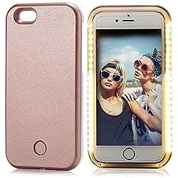 Elftear - Cover per iPhone 6 Plus/6S, con illuminazione laterale a LED per selfie, PLASTICA, Gold, iPhone 6 Plus / iPhone 6S Plus