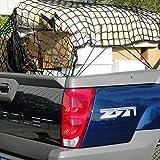 MICTUNING 17x12cm Tolles Anhängernetz, Gepäcknetz bis Dehnbar 35x25cm mit 16pcs Hakel für SUV ATV