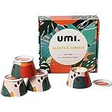 Amazon Brand - Umi Lot de 4 Pièces Bougies Parfumées Pour Femme, Cire de Soja Naturelle, Idée Cadeau Pour Les Vacances, Fête