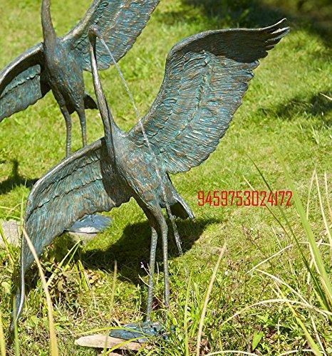 Bronzefigur, Skulpturen, Reiher modern, wasserspeiend , Kopf links