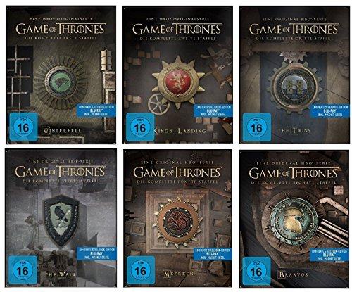 game of thrones steelbook staffel 3 Blu-ray Steelbook Set * Game of Thrones Season / Staffel 1+2+3+4+5+6 * 1-6 / Alle 6 mit Magnet Siegel