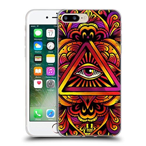 Head Case Designs Occhio Icone Dellantico Egitto Cover Retro Rigida per Apple iPhone 7 Plus / 8 Plus Psichedelico