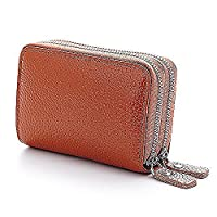 Credit Card Wallet,SURPHY NEW Fashion Genuine Leather Women Card Holder Wallet High Capacity Credit Card Holders For Female Coin Purses Pillow Card Purse