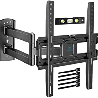 Support Murale TV Inclinable Pivot et Rotation - Mouvement Complet avec Bras Articulé VESA 400x400mm pour TV à écran…