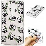 Qiaogle Teléfono Caso - Funda de TPU silicona Carcasa Case Cover para LG G4c / G4 Mini (5.0 Pulgadas) - HC02 / Cute Panda eat bamboo