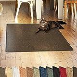 Sisalteppich - ideal als Kratzmatte für Katzen - schadstofffrei & widerstandsfähig - 100x100cm - 2 Farben (dunkelbraun)