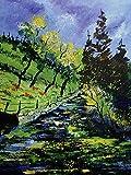 Artland Qualitätsbilder I Wandbilder Selbstklebende Wandfolie 30 x 40 cm Landschaften Vier Jahreszeiten Malerei Grün C0MK Frühling 2016