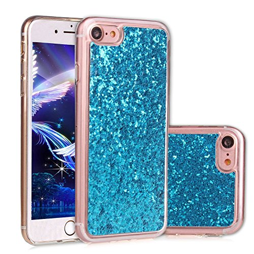 Paillette Coque pour iPhone 6S,iPhone 6 Bling Liquide Coque,iPhone 6 Bling Glitter Coque Etui Dual Layer Plastic Coque Liquide Cases Covers,EMAXELERS iPhone 6S Case Bling Glitter Flowing Etui,iPhone 6 A TPU 2