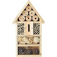 Monsterzeug Insektenhotel mit Vogelschutz, Nistkasten Bausatz, Insektenhotel selber Bauen, Nisthilfe, Überwinterungshilfe, Insektenvilla