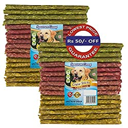 Spectrum Group An ISO 9001:2015 & HACCP Accredited Company brings for your pampered dog A Combo Pack of Premium Mix Flavored 40+40=80 Sticks