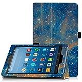 Famavala Folio custodia cover con funzione Sleep/Wake per 20,3cm Fire HD 8Tablet [7th Generation 2017/6th Generation 2016] 20,3cm tablet SkyStar