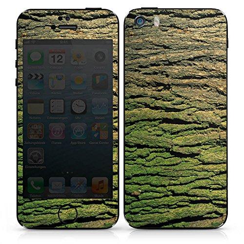 Apple iPhone SE Case Skin Sticker aus Vinyl-Folie Aufkleber Baumrinde Rinde Look Baum Holz DesignSkins® glänzend