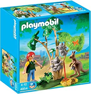 Playmobil - 4854 - Jeu de construction - Arbre à koalas et kangourous