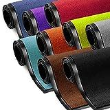 Schmutzfangmatte ColorLine   viele Größen und Farben zur Auswahl   Fußmatte für Innenbereich   Mono Color Rot 90x150 cm