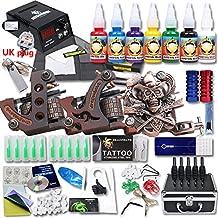 dragonhawk profesional Kit de Tatuaje 3ametralladora Top CE Agujas de alimentación Grip punta EE. UU. Marca de tinta con funda kt-3eu-1