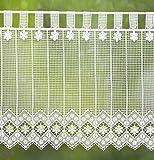zarte Landhausgardine' Blume' 45 x 50 cm weiß- ideal für kleine Fenster