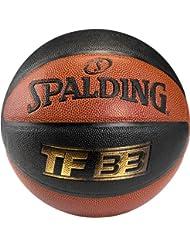 Spalding Ball TF33 In/Out 74-490Z - Pelota de baloncesto ( interior, cuero ) , color naranja, talla 6