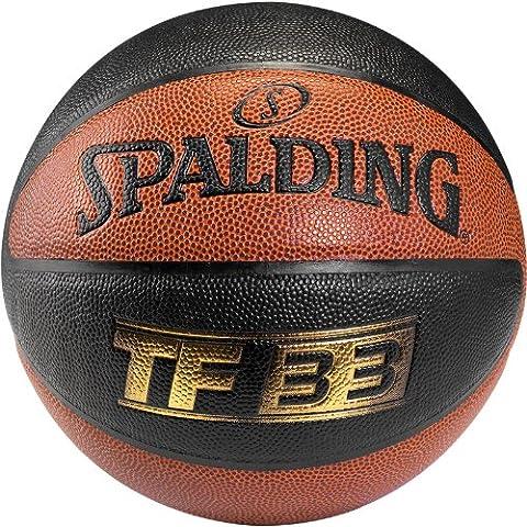 Spalding Ball TF33 In/Out 74-490Z - Pelota de baloncesto ( interior, cuero ) , color naranja, talla