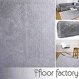 floor factory Weicher Hochflor Shaggy Teppich Privilege grau 80x150 cm - flauschiger Mikrofaser Langflorteppich