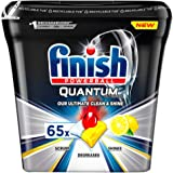 Finish Quantum Ultimate Dishwasher Tablets, Lemon, 65 Tabs
