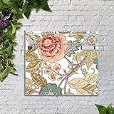 motivX Sonate Wandbriefkasten Briefkasten mit Motiv -Blumenranken Jugendstil- mit Namensschild bunt pulverbeschichtet