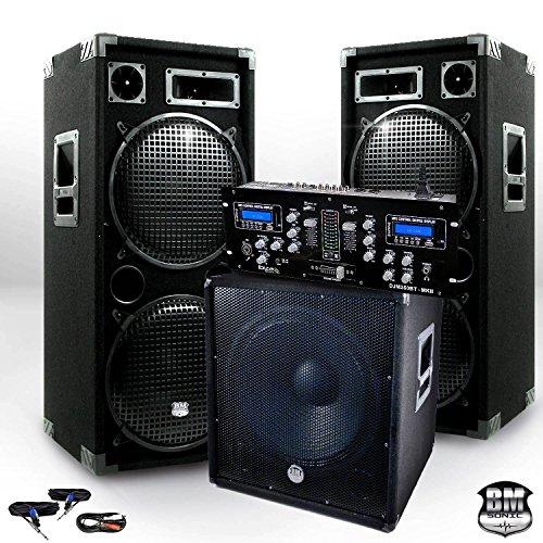 Pack Sono complet BM SONIC BMX-18215 3200W Caisson bi-amplifié + DJM250BT-MKII