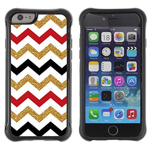 Graphic4You BLACK STRIPES Muster Shockproof Anti-Rutsch Weichen Hülle Case Tasche Schutzhülle für Apple iPhone 6 Plus / 6S Plus Design #17